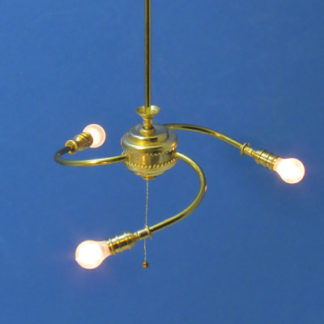 BB-900 3-Arm Bare Bulb Chandelier