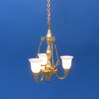 CH-129+ Three-Arm Brass Chandelier