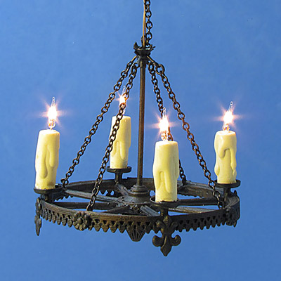 Ch Tudor Wrought Iron Look Style Chandelier