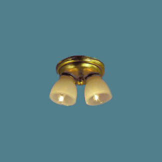 CL-651 Brass two light ceiling fixture.