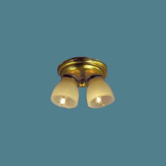 CL-651 Brass two light ceiling fixture.