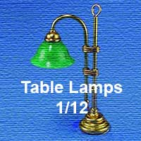 1/12th Scale Table Lamps