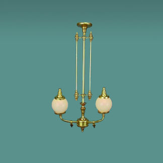 CH-180 two light Victorian gas chandelier