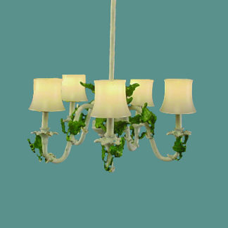 CH-206+ Five-Arm Leaf Chandelier