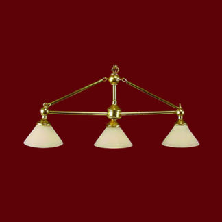 CH-319+ Three-Light Brass Worktable Light