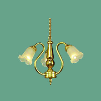 CH-399 Three-Arm Brass Chandelier