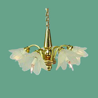 CH-445 Five-Arm Brass Chandelier
