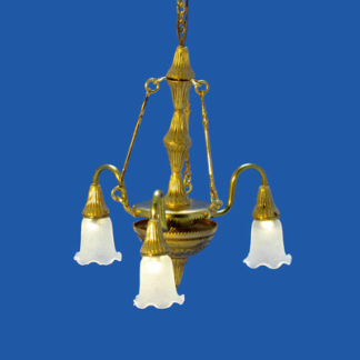 CH-659+ Three-Arm Brass Chandelier