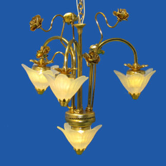 CH-660 3-arm 4-light chandelier