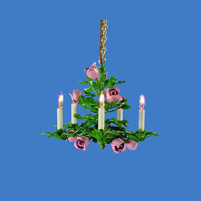 CH-N Five-Light Floral Chandelier