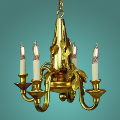 HSCH-122 Four-Arm Brass Candlestick Chandelier