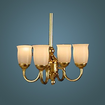 HSCH-L Four-Arm Brass Chandelier