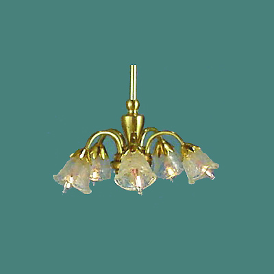 HSCH-P Five-Arm Brass Chandelier